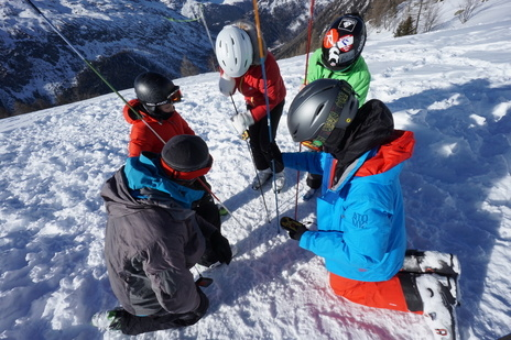 Transceiver training in Chamonix